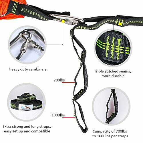 best hammock tree straps with carabiners suspension system 2000 lbs heavy duty xl polyester webbing straps 32 loops hanging kit for outereq eagles nest      best hammock tree straps with carabiners suspension system 2000      rh   trxstraps us