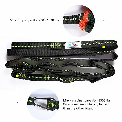 Medium image of best hammock tree straps with carabiners suspension system 2000 lbs heavy duty xl polyester webbing straps 32 loops hanging kit for outereq eagles nest