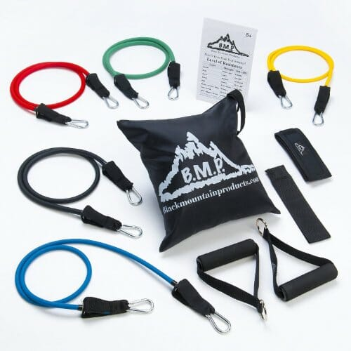 Black Mountain Products Resistance Band Set With Door