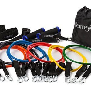 HemingWeigh-Resistance-Band-Set-with-Door-Anchor-Ankle-Strap-Exercise-Chart-and-Resistance-Bands-Carrying-Case-0