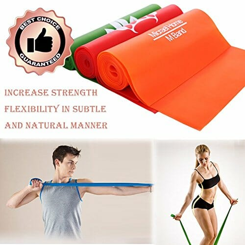 Micrael Home Sports Exercise Resistance Band Set Of 3 Long