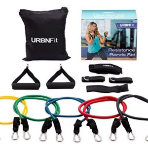 URBNFit-Resistance-Bands-Set-12-Piece-Includes-Door-Anchor-Ankle-Wrist-Strap-Exercise-Guide-And-Carrying-Bag-For-Strengthening-And-Training-Pro-Series-0