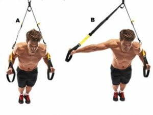 clock press with TRX Suspension Trainer