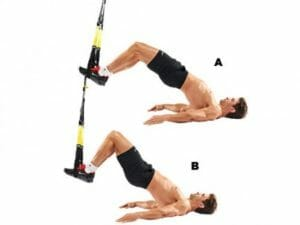 ham curl with TRX Suspension Trainer