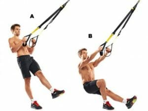 One-leg squat with TRX Suspension Trainer