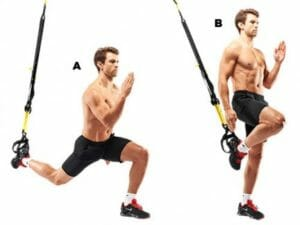 Lunge with TRX Suspension Trainer