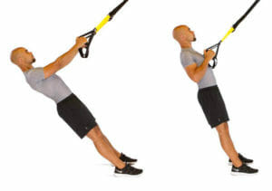 Low row with TRX Suspension Trainer