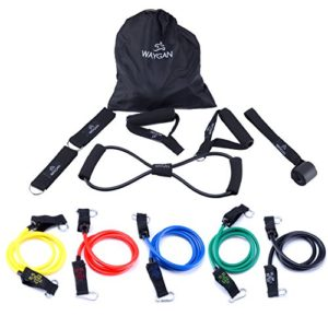 12-Piece-Heavy-Duty-Resistance-Band-Set-5-Exercise-Bands-1-Figure-8-Expander-2-Foam-Handles-2-Ankle-Straps-1-Door-Anchor-1-Carrying-Bag-Arms-Shoulders-Legs-Abs-Workout-for-Men-Women-0