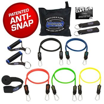 BODYLASTICS-12-PCS-Patented-Anti-Snap-Resistance-Bands-Set-Includes-5-Best-Quality-ANTI-SNAP-bands-heavy-Duty-Components-AnchorHandlesAnkle-Straps-and-exercise-training-resources-0