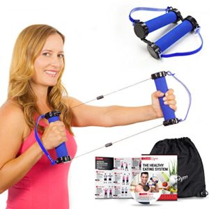 Best-Resistance-Bands-Exercise-Kit-Gwee-Gym-Total-Body-Workout-Kit-All-in-One-Portable-Gym-Equipment-with-Workout-DVD-Travel-Bag-and-Healthy-Eating-e-Book-Weighs-Less-than-Traditional-Resistance-Bands-0