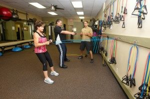 Personal Fitness with Elastic bands