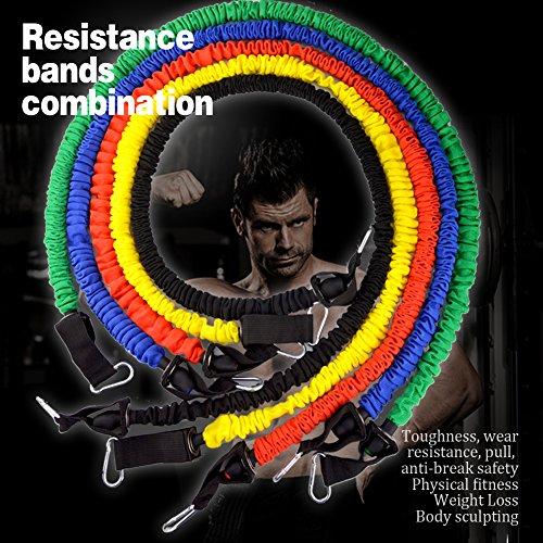 Gada 11Pcs Resistance Band Set,Heavy Duty Workout Fitness