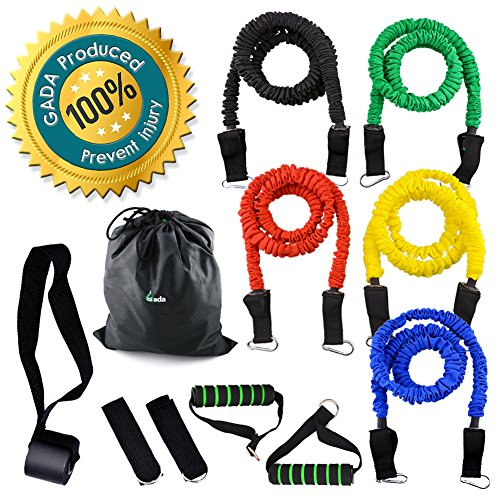 Gada 11pcs Resistance Band Set Heavy Duty Workout Fitness