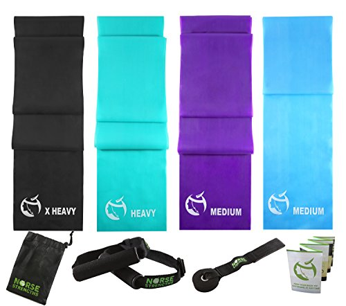 Norse Strengths Resistance Bands Set Of 4 Workout Stretch