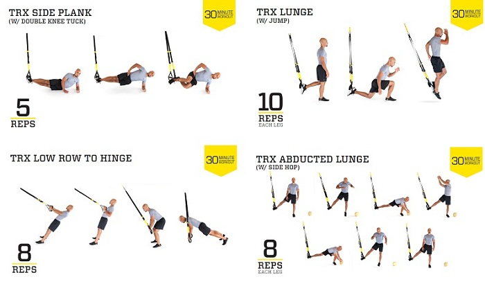 TRX bands exercises workout