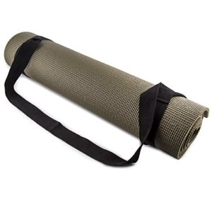 Fit-Spirit-Adjustable-Cotton-Yoga-Mat-Carrying-Strap-Black-0