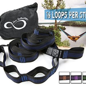 Hammock-Hanging-Tree-Straps-Adjustable-16-Loop-Per-Strap-Stretch-Resistant-11-Poly-Filament-Webbed-Straps-With-Triple-Stitched-Connection-Points-Cinch-Carrying-Bag-0