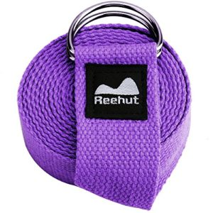 Reehut-Fitness-Exercise-Yoga-Strap-6ft-8ft-10ft-w-Adjustable-D-Ring-Buckle-for-Stretching-Flexibility-and-Physical-Therapy-0