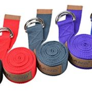 Sunland-Yoga-Stretching-Belt-Fitness-Training-Strap-Belt-With-Metal-D-Ring-and-Leather-Accents-0-0