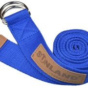 Sunland-Yoga-Stretching-Belt-Fitness-Training-Strap-Belt-With-Metal-D-Ring-and-Leather-Accents-0-1