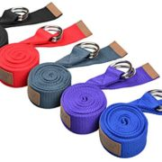 Sunland-Yoga-Stretching-Belt-Fitness-Training-Strap-Belt-With-Metal-D-Ring-and-Leather-Accents-0