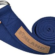 Sunland-Yoga-Stretching-Belt-Fitness-Training-Strap-Belt-With-Metal-D-Ring-and-Leather-Accents-0-2
