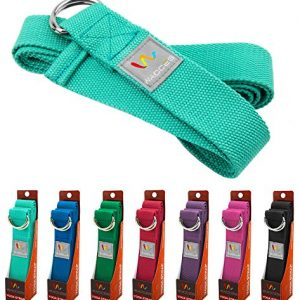 Wacces-D-Ring-Buckle-Cotton-Yoga-Straps-Bands-Best-for-Stretching-0
