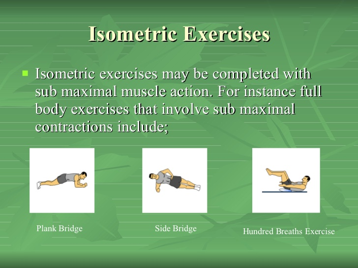 Isometric Resistance training