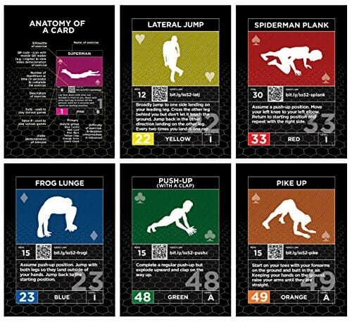 Workout Games: Exercise Cards Complete Pack: Strength Stack 52 Bodyweight
