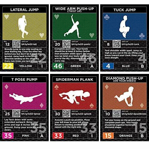 Workout Games: Exercise Cards: Strength Stack 52 Bodyweight Workout