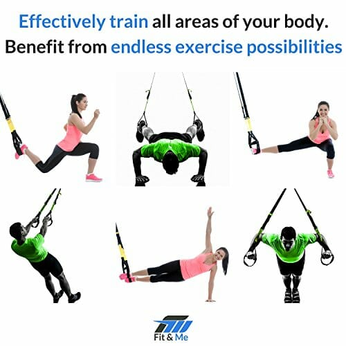 Fitme Bodyweight Trainer Suspension System Straps With Mesh Carry Bag And Complete Exercise Instructions And Programs For Men Women Of All Fitness Levels 0 1 Trx For Sale