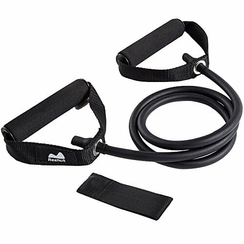Reehut Single Resistance Band Exercise Tube With Door Anchor And