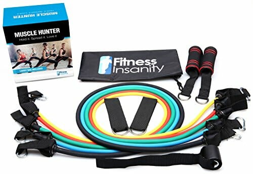 Resistance Band Set 5 Stackable Exercise Bands Free