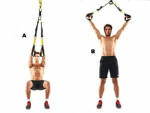 Squat & fly with TRX Suspension Trainer