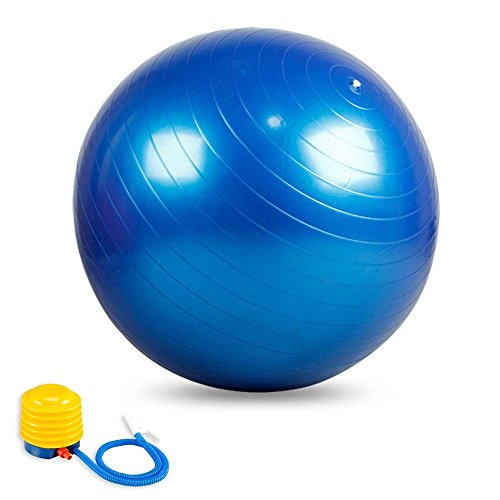 Stability Ball Manual: 2000lbs Anti-Burst Exercise Stability Ball With 2 Sets