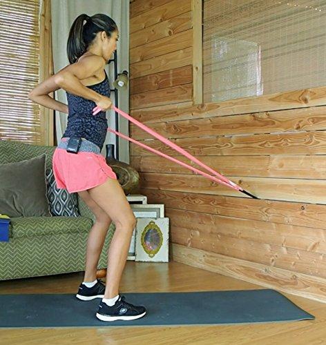 Flat Resistance Exercise Stretch Band Set 3 5 Ft Long Bands Light