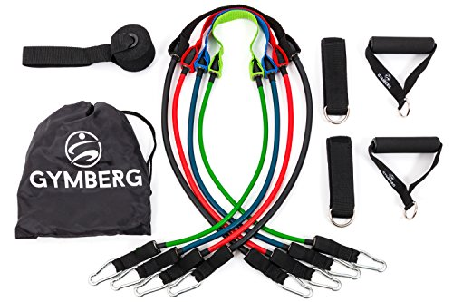 Gymberg Resistance Bands Set with Door ...  sc 1 st  TRX straps & Gymberg Resistance Bands Set with Door Anchor Ankle Strap Workout ...