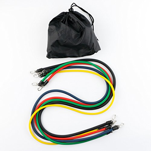 Resistance Band Set With Door Anchor Ankle Strap