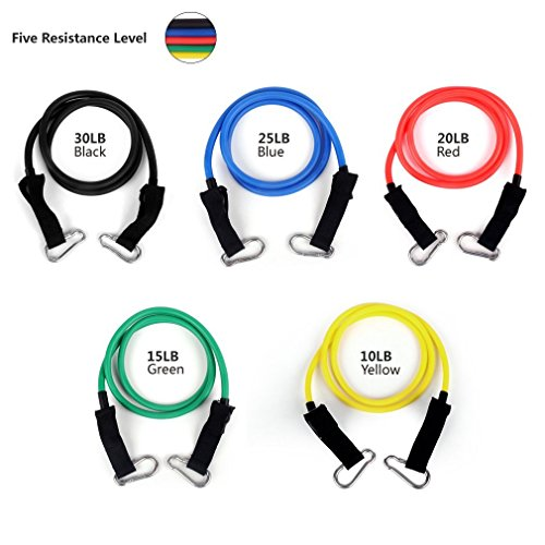 Resistance Bands Set With Door Anchor Ankle Amp Wrist Strap
