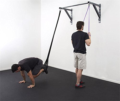 Exercise Bands Bar: Core Energy Fitness Anchor Gym PULL UP BAR