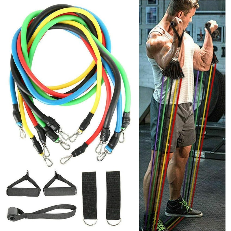 11 PCS//SET RESISTANCE BANDS FOR HOME FITNESS EXPANDER WORKOUT EXERCISE EQUIPMENT